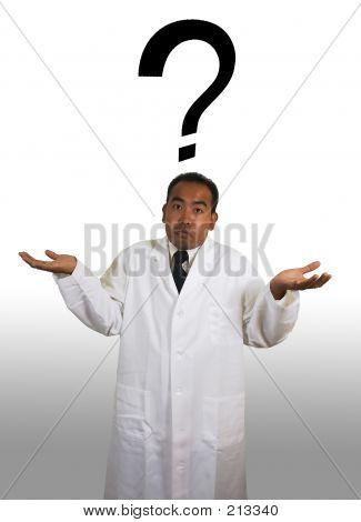 Scientist Shrug On White