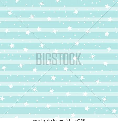 Abstract seamless baby star pattern for girls boys clothes sportswear. Creative vector background with stars and sky. Funny baby star wallpaper for textile and fabric. Fashion kids style.