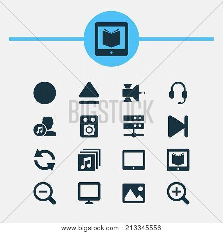 Includes Icons Such As Top, Palmtop, Finish And Other.  Music Icons Set.