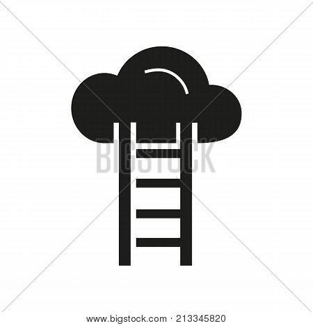 Icon of cloud storage. Online file, ladder, provider. Web page concept. Can be used for topics like file sharing service, server, file hosting