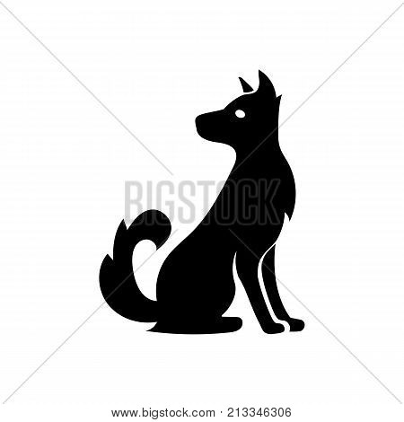 Curious dog icon. Pet, companion, mammal. Animal concept. Can be used for topics like horoscope, veterinary medicine, dog shelter