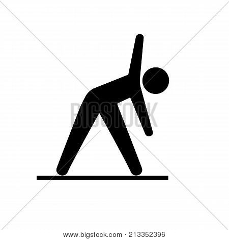 Icon of yoga practice. Activity, stretching, training. Relaxation concept. Can be used for topics like sport, gymnastics, workout