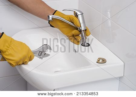 Installation Of A Faucet For A Sink