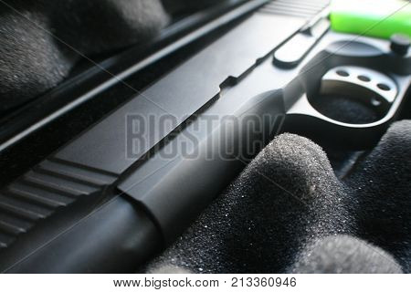 Handgun Close Up High Quality Stock Photo