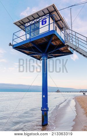 Sea Rescue Watchtower On Usedom, Germany