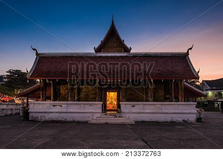 A historical temple in the world heritage site, Luang Prabang, Laos.