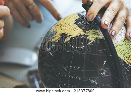 Globe World Map Travel Explore Destination Concept
