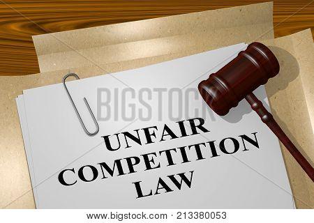 Unfair Competition Law Concept