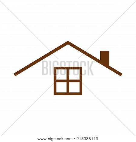 Guest House Roof Top Simple Vector Graphic Illustration Image
