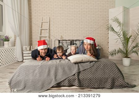 Happy Family In Anticipation Of The New Year