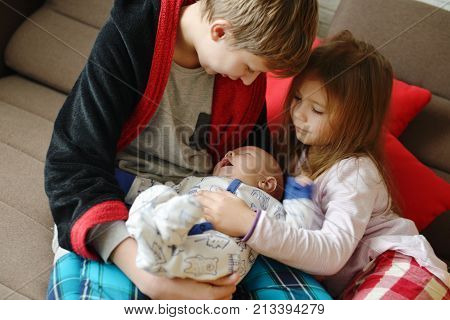 Three Children At Home