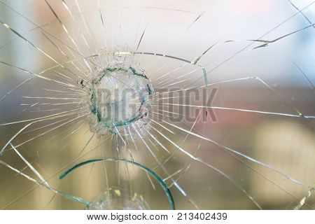 amzing piece of broken glass. glass pattern