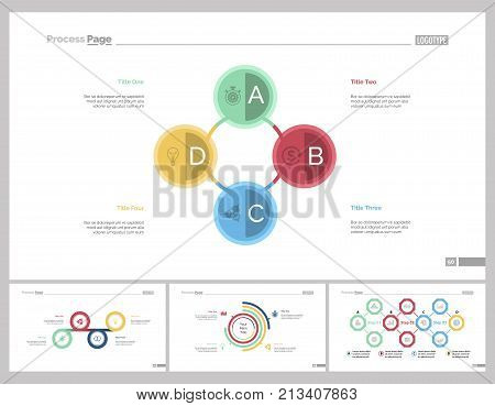 Infographic design set can be used for workflow layout, diagram, report, presentation, web design. Business and workflow concept with cycle, process, pie and flow charts.