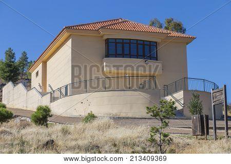 Aliseda Spain - October 29 2017: Interpretation Centre of mine of La Pastora Aliseda Caceres Spain