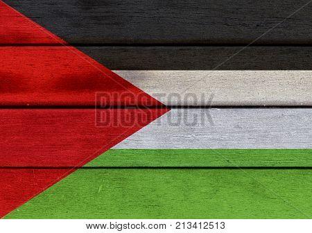 Wooden Palestine Flag