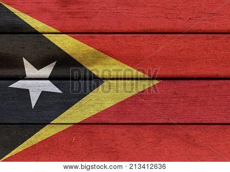 Wooden East Timor Flag
