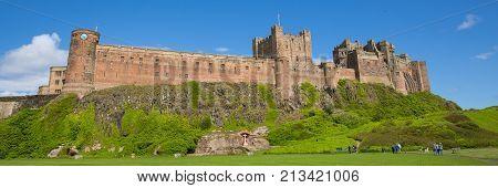Bamburgh Castle Northumberland England UK panoramic view