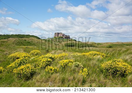 Bamburgh Castle Northumberland north east England UK
