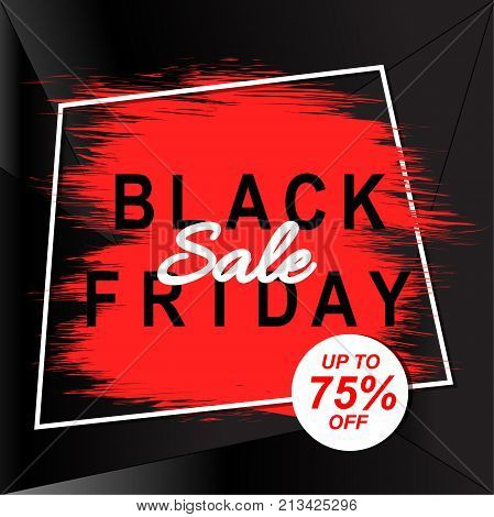 Black friday sale banner. Discount vector template.Abstract background.