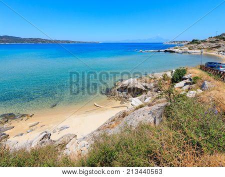 Summer Sea Coast (halkidiki, Greece).