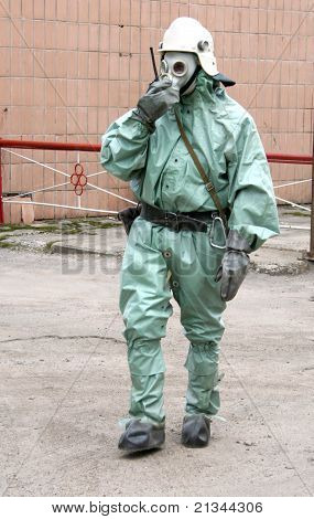Man In Chemical Suit