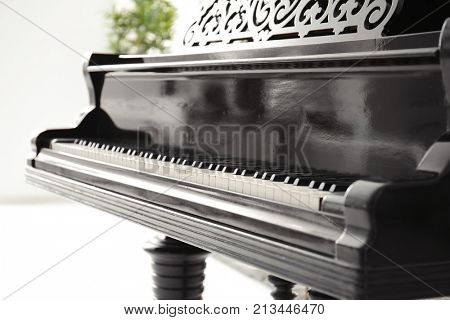 Grand piano indoors