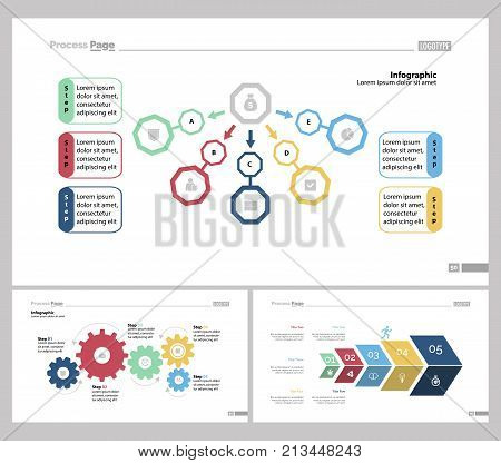 Infographic design set can be used for workflow layout, diagram, report, presentation, web design. Business and workflow concept with flow, process and step charts.