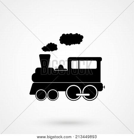 Train Icon On White Background. Vector Illustration.