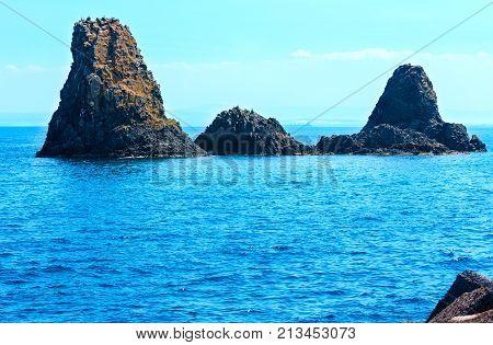 Aci Trezza Faraglioni, Sicily Coast