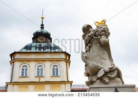 Baroque-classicist New Chateau Horovice In Bohemia, Czech Republic, Europe