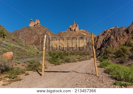 nature of Kazakhstan Charyn Canyon, Charyn Canyon in Kazakhstan. The Valley of Castles.