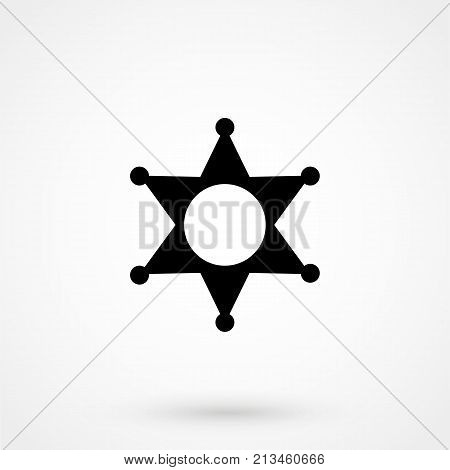 Sheriff Icon. Simple Filled Sheriff Vector Icon. On White Background.