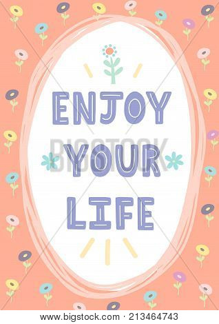 Enjoy Your Life Hand Vector & Photo (Free Trial) | Bigstock