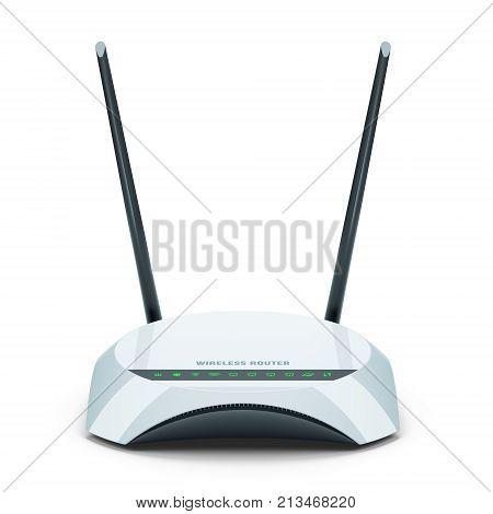 White Wi-fi Wireless Router