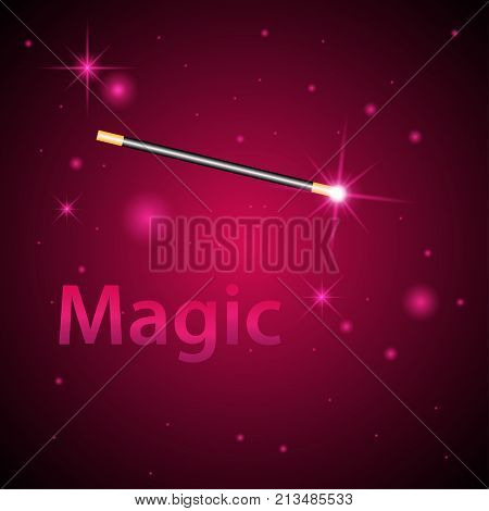 Magic wand vector background. Miracle magician wand
