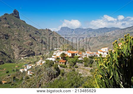 Breath-taking view from Tejeda in Gran Canaria. Spain.