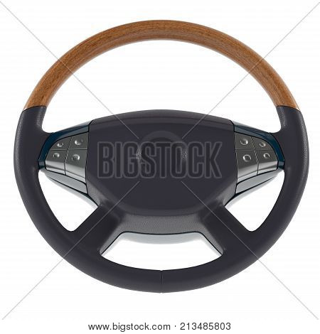 3d steering wheel on a white background 3d illustration