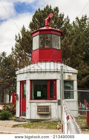 Cape Robert Lighthouse In Ontario. Ontario Canada.