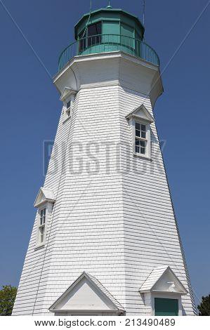 Port Dalhousie Range Rear Lighthouse by Lake Ontario. Ontario Canada.