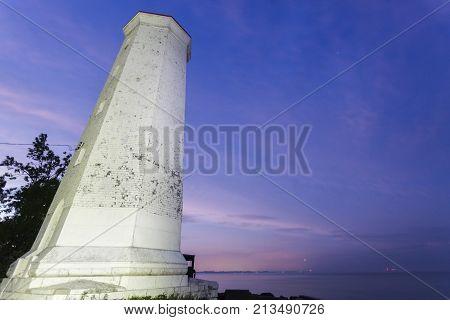 Presqu'ile Point Lighthouse by Lake Ontario. Ontario Canada.