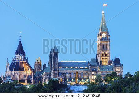 Parliament Hill in Ottawa. Ottawa Ontario Canada.