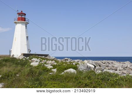 Western Head Lighthouse in Nova Scotia. Nova Scotia Canada.
