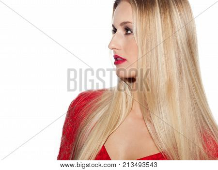 Beautiful Woman With Long Blond Hair