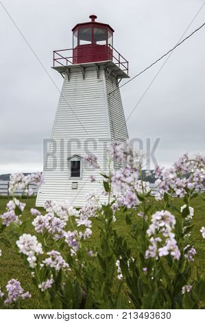 Jerome Point Lighthouse in Nova Scotia. Nova Scotia Canada.