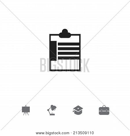 Set Of 5 Editable Education Icons. Includes Symbols Such As Painter's Stand, Trunk, Supervision List