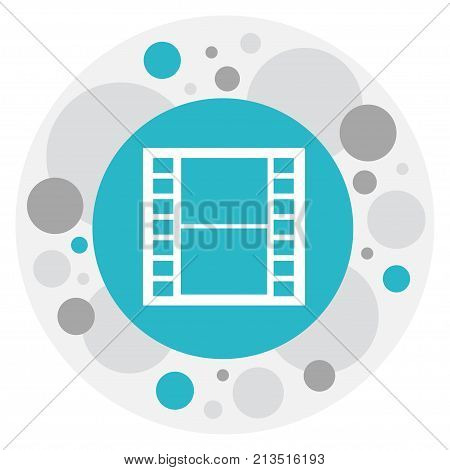 Vector Illustration Of Movie Symbol On Frame Tape Icon