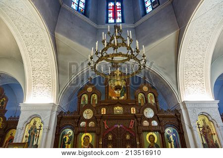 Inside The Temple Of The Cross Exaltation, Darna, Russia