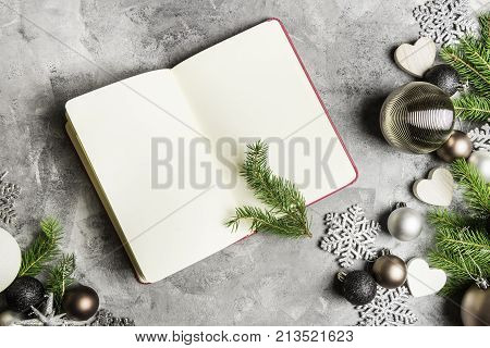 Open Empty Notebook For New Years Sport Resolutions