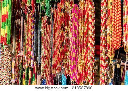 Nepalese traditional handicrafts and souvenirs Kathmandu Nepal.