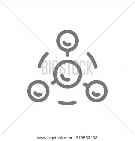 Simple ion and electron line icon. Symbol and sign vector illustration design. Isolated on white background